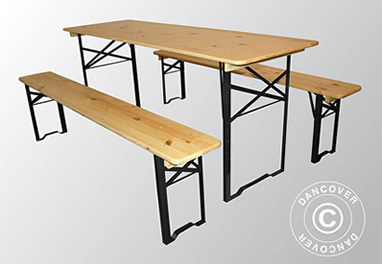 Ensemble table et bancs