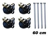 Safety Pack 4 (storm pegs 60 cm & storm straps)