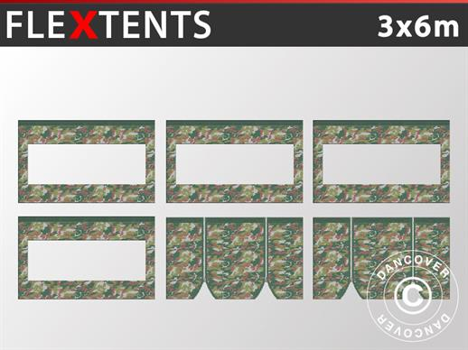 Sidewall kit for Pop up gazebo FleXtents 3x6 m, Camouflage