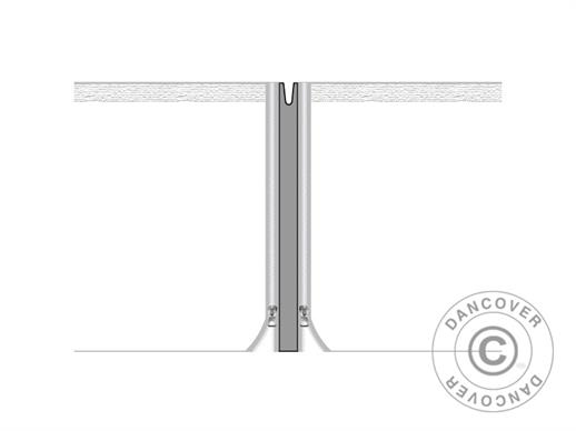 Infill joint panels for FleXtents® PRO pop-up gazebo 4m series, Grey, 2 pcs.