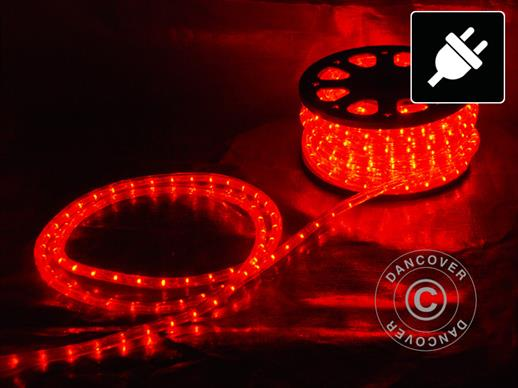 Rope light LED, 25m, Ø1.2 cm, Multifunction, Red