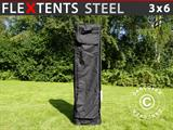 FleXtents® Steel Bæretaske m/hjul 3x6m, Sort