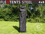 Carry bag w/ wheels, FleXtents® Steel 4x8m, Black