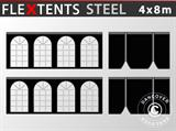 Sidewall kit for pop up gazebo FleXtents Steel 4x8 m, Black