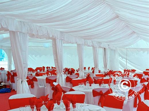 Marquee lining and leg curtain pack, white, for 5x10 m marquee