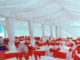 Marquee lining and leg curtain pack, White, for 5x12 m marquee
