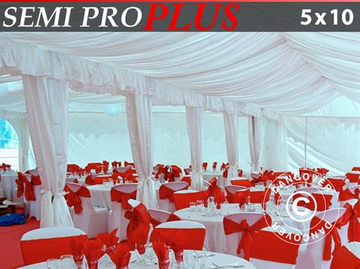 Marquee lining and leg curtain pack, white, for 5x10 m marquee SEMI PRO Plus