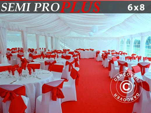 Marquee lining and leg curtain pack, white, for 6x8 m marquee Semi Pro Plus