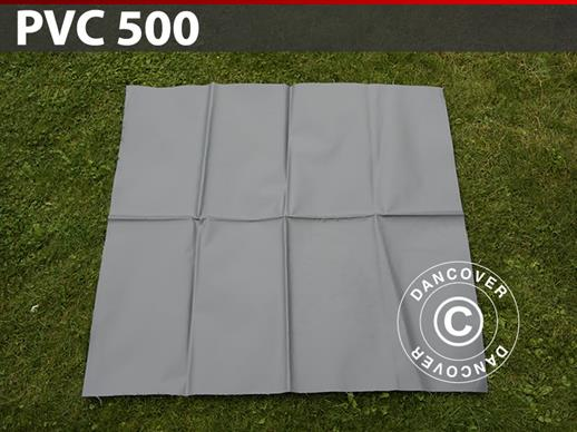 Repair PVC for storage tent, 500 g/m², 1x1 m, Grey