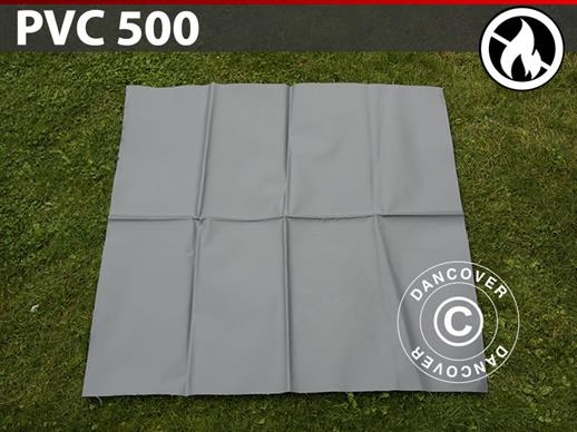 Repair PVC for Fire Retardant storage tent, 500 g/m², 1x1 m, Grey