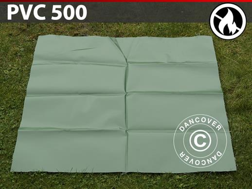 Repair PVC for Fire Retardant storage tent, 500 g/m², 1x1 m, Green