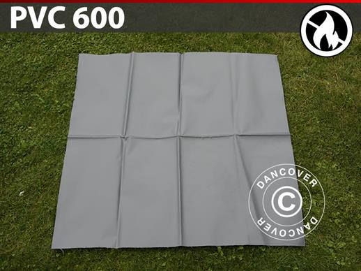 Repair PVC for Fire Retardant storage tent, 600 g/m², 1x1 m, Grey