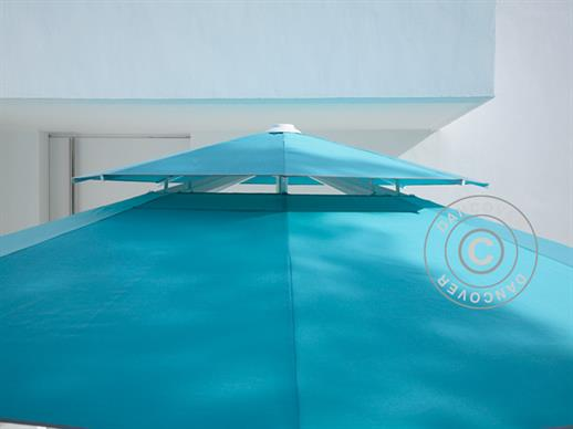 Wind roof for round parasols