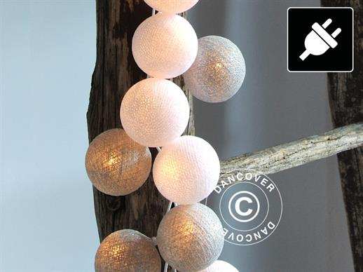 Happy Lights, 35 balls, Silver coloured