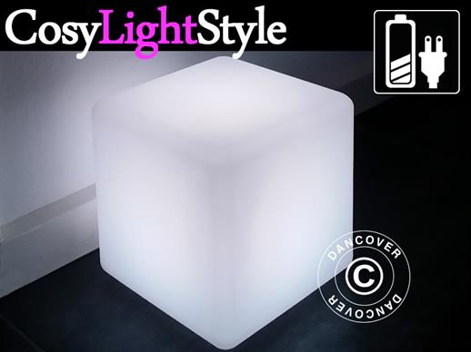 LED Cube Light, 50x50 cm, Multifunction, Multicoloured