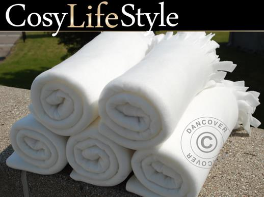 Fleece blanket, White, 10 pcs.