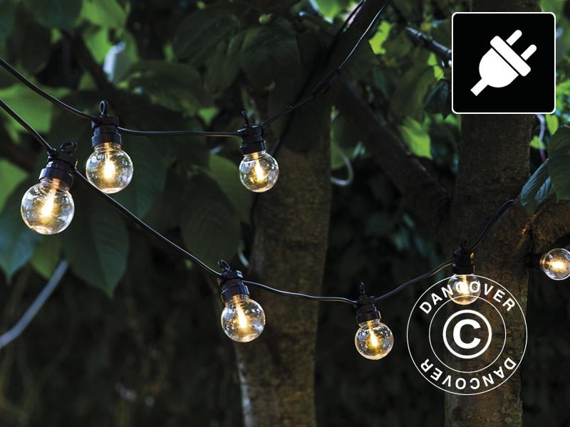 LED Lyskæde Suppleringssæt, Lucas, Sirius, 3m, Sort/Klar/Varm Hvid - Dancovershop DK