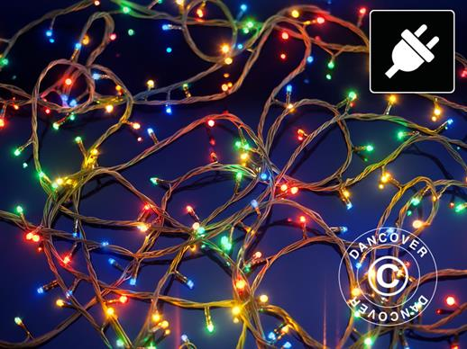LED Fairy lights, 25 m, Multifunction, Multicoloured, Transparent cord