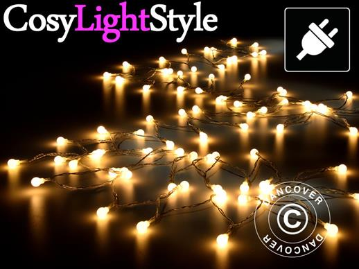 LED  Fairy lights, multifunction, 10 m, 100 balls, warm white