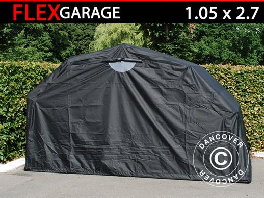 Folding garage (MC), 1.05x2.7x1.57 m, Black