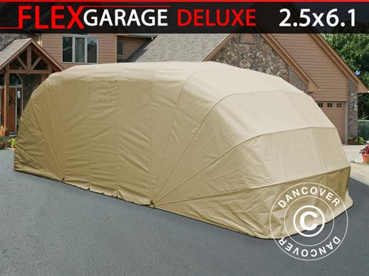 Folding garage (Car), ECO, 2.5x6.1x2 m, Beige
