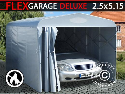 Garage pliant tunnel (Voiture), 2,5x5,15x2,15m, gris