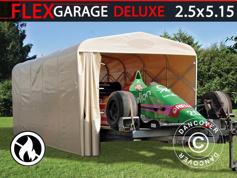 Garaż Składany Tunelowy Samochodowy 25x515x215m Beżowy