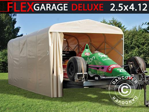 Garage pliant tunnel (Voiture), ECO, 2,5x4,12x2,15m, beige