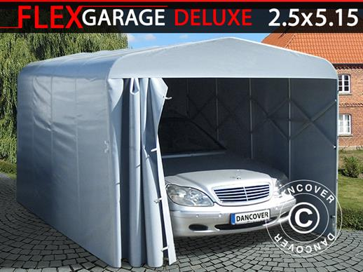 Garage pliant tunnel (Voiture), ECO, 2,5x5,15x2,15m, gris