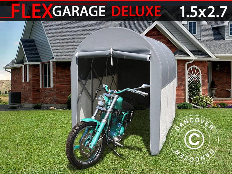 Garaż Składany Tunelowy Motocyklowy 15x27x205m Szary