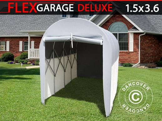 Folding tunnel garage (MC), 1.5x3.6x2.05 m, Grey