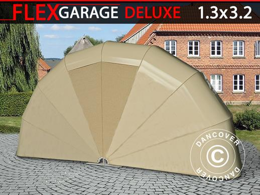 Foldegarage (MC), 1,3x3,2x1,6m, Beige