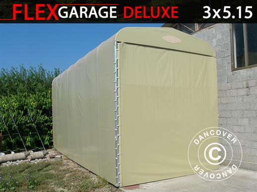 Folding tunnel garage (Caravan), 3x5.15x3.6 m, Beige