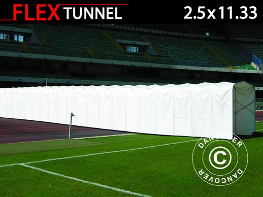 Túnel de estadio, plegable, 2,5x11,33x2,2m, Blanco