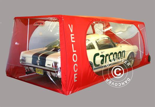 Carcoon Veloce 4.88x2.3 m Clear/Red, Indoor