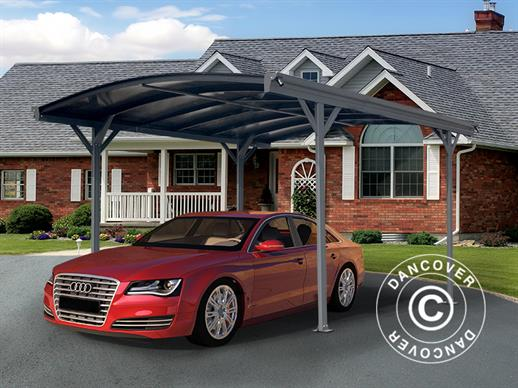 Carport Boston, 3x4.34 m, Dark Grey