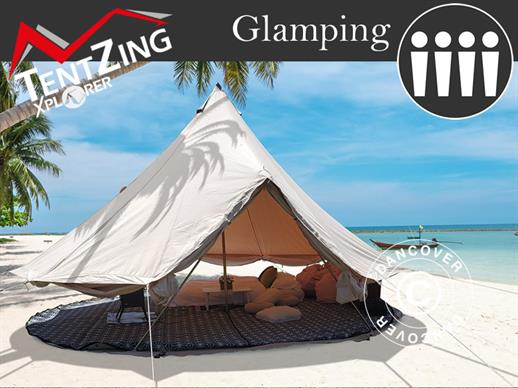 Bell Tent for glamping, TentZing®, 4x4 m, 4 Persons, Sand