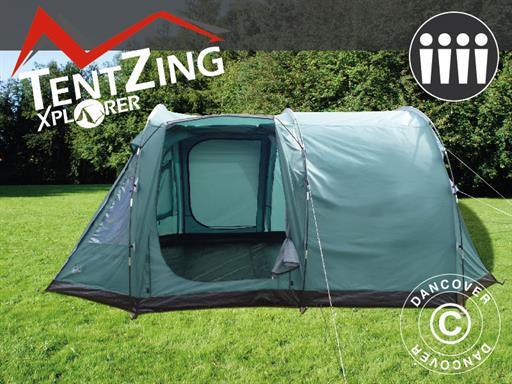 Camping Telt, TentZing® Explorer familie, 4 personer, Grønn
