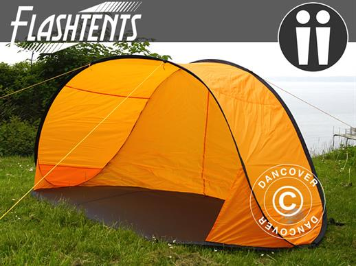 Strandtält, FlashTents®, 2 personer, Orange/Mörkgrå