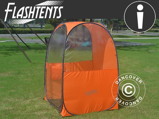 All Weather Pod/Football Mom pop-up tent, FlashTents®, 1 person, Orange/Dark grey