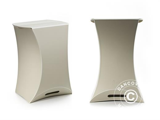 Flux pops, side table, Pebble grey