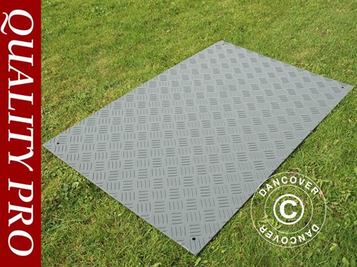 Party flooring and ground protection mat, 0.96 m², 80x120x0.6cm, Grey, 1 pc.