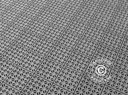 Plastic flooring Basic, Multiplate, Grey, 1.23  m² (4 pcs.)