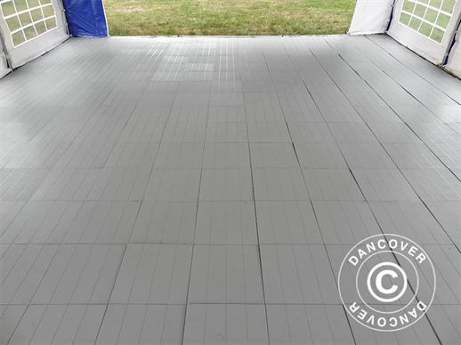 Plastic flooring Basic, Piastrella, Grey, 1.44  m² (9 pcs.)
