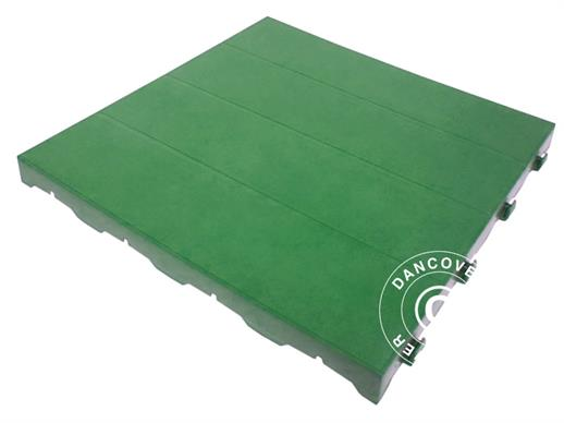 Plastic flooring Basic, Piastrella, Green, 1.44  m² (9 pcs.)