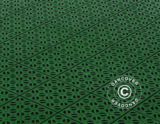 Plastic flooring Basic, Multiplate, Green, 9.84  m²