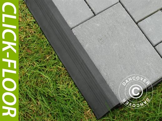 Decking tiles, Edge Piece, Click-Floor, 30 cm, Grey, 4 pcs.