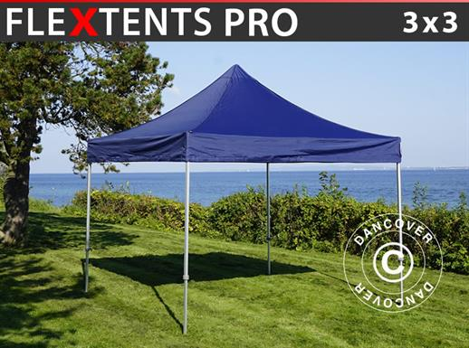 Pop up gazebo FleXtents PRO 3x3 m Dark blue
