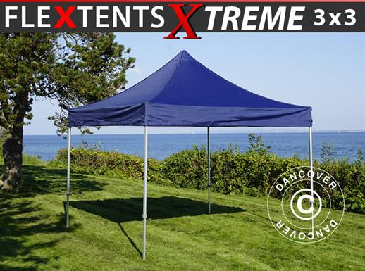 Quick-up telt FleXtents Xtreme 3x3m Mørk blå