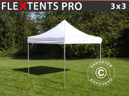 Pop up gazebo FleXtents PRO 3x3 m White